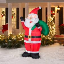 gemmy airblown inflatables waving santa