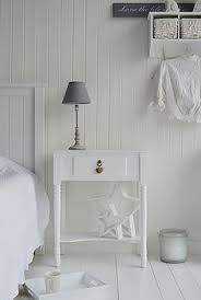 new england white bedside table with drawers from the white