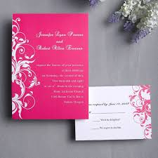 budget wedding invitations a pink theme wedding for your special day