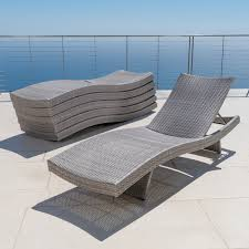Grey Chaise Lounge Portofino Comfort 6pk Chaise Lounge Chairs Grey Rst Brands