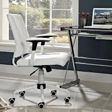 Modern White Office Table Ladera Modern White Office Chair Eurway Furniture