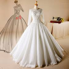 wedding dress muslimah customized bridal wedding dress sleeves muslim wedding gowns