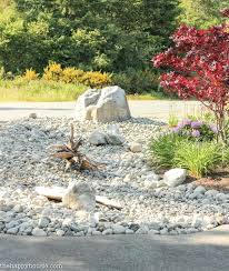 Simple Rock Garden Decoration Simple Rock Garden Ideas We Ran The River Bed Across
