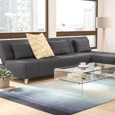 Sofa Bed Sectional Wade Logan Ricardo Reversible Sleeper Sectional U0026 Reviews Wayfair