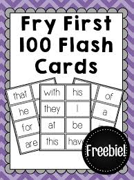 words cards freebie fry 100 sight word flash cards freebie these