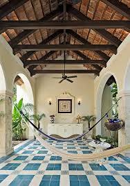 relaxing courtyard at hacienda merida interior deign and home