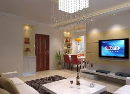 Simple Home Decor And Interior With Nice Pendant Lighting And Led - Living room simple decorating ideas
