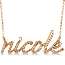 name pendant personalized script font name pendant necklace solid 14k gold