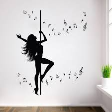 wall stickers for bedrooms soluweb co wall stickers for bedrooms of amazing creative dance girl music wall sticker