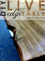 diy live edge coffee table les proomis