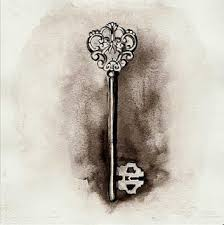 thought bubbles vintage skeleton key tattoo design tattoomagz