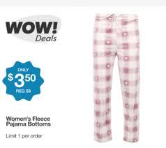 s fleece pajama on sale just 3 50