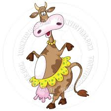 cartoon dancing cow by polkan toon vectors eps 14161