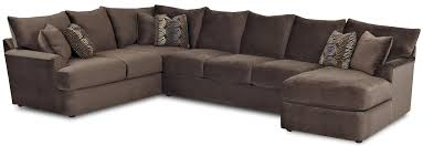 Klaussner Furniture Quality L Shaped Sectional Sofa With Right Chaise By Klaussner Wolf And