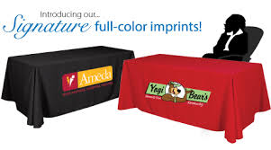 6ft Imprinted Table Cover Custom Table Throws For Trade Show Custom Imprinted With Your Logo