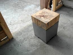 Wohnzimmer Hocker Betonmöbel Hocker Holz Tamarinde Beton Zement Pinterest
