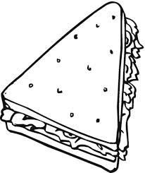 sandwich coloring pages free printable coloring pages with