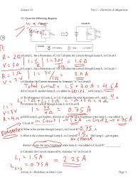ohms law worksheet worksheets