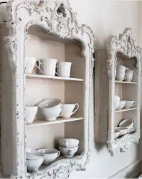 diy shelving from old vintage picture frames great ideas