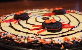 happy halloween and oreo spider web cookie pizza u2013 dallas duo bakes