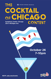 help choose the first cocktail of chicago in chicago at symphony