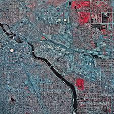 Map Of Minneapolis Satellite View Of Minneapolis Photograph By Stocktrek Images