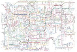 L Train Chicago Map by Here U0027s A Full Railway Map Of Tokyo And Suburbs Complete With