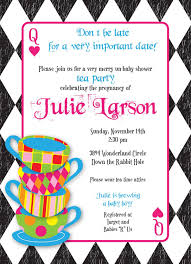 wrap party invitations mad hatter tea party custom baby shower invitation