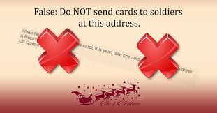 chrismas cards do not send christmas cards for recovering soldiers to