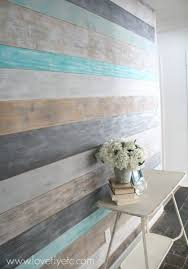 weathered wood wall how to make a stunning diy plank wall lovely etc