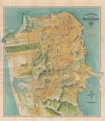 san francisco map the chevalier commercial pictorial and tourist map of san
