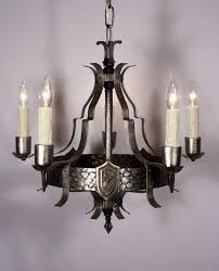 Tudor Chandelier Handsome Antique Five Arm Tudor Chandelier With Fleur De Lis