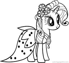 My Little Pony Coloring Pages Princess Celestia In A Dress Part Pony Coloring Pages