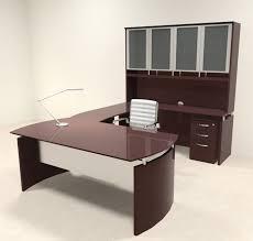 nap desk 5pc modern contemporary u shape executive office desk set ro nap