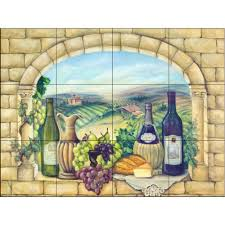 tuscan wine 24 in x 18 in ceramic mural wall tile 15 830 2418 6c ceramic mural wall tile