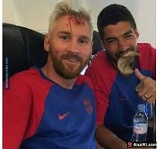 Messi Meme - suarez and messi s halloween costume soccer memes goal91