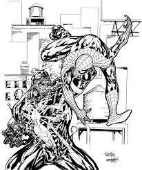 spider man vs venom coloring page 20238 bestofcoloring com