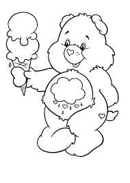 care bears melting ice cream coloring pages place color