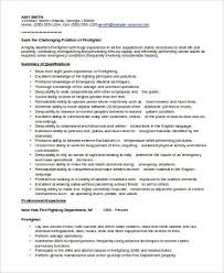 sample firefighter resume firefighter resume template