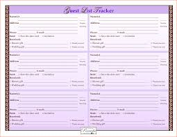 Grocery List Word Template 8 Wedding Guest List Template Bookletemplate Org