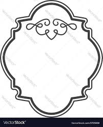 Victorian Design Victorian Frame Isolated Icon Design Royalty Free Vector