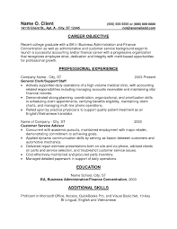 entry level resume exles resume objective entry level inspirational accounting resumes