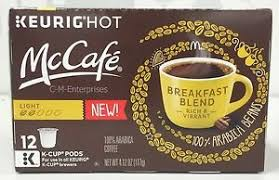 Blend K Cups Mcdonalds Mccafe Breakfast Blend Coffee K Cup Cups Keurig 12 Ct Ebay