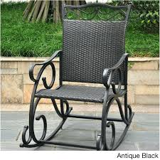 Patio Pvc Furniture Pvc Rocking Chairs International Caravan Resin Wicker Steel Frame