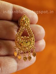 bengali gold earrings indian blush traditioal and trendy bengali wedding jewellery