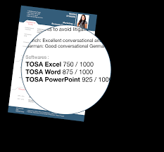 tosa certification exam on microsoft office cpd certification