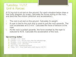 newton s third quiz review tuesday november 17 ppt