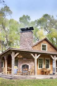 Small Log Home Plans With Loft Rustic Log Home Plans Stacked Stone Outdoor Kitchen