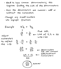 worksheets on adding and subtracting fractions koogra