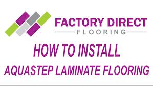 Aqualoc Laminate Flooring How To Install Aquastep Laminate Flooring Youtube